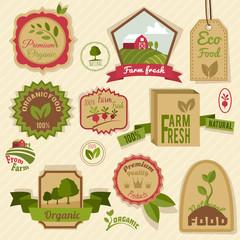 Vintage organic labels