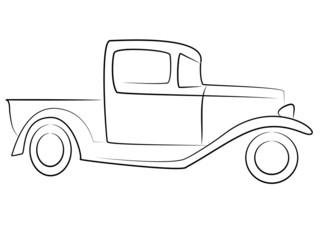 Vintage Pickup Lkw Oldtimer Tribal