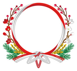 Japanese Traditional Wreath-Clip art