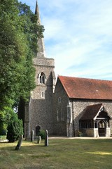 English parish church in sun