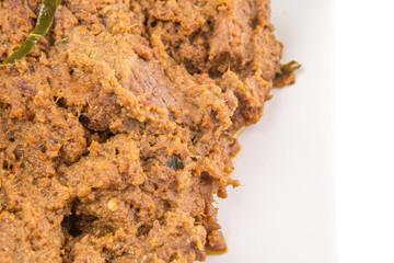 Malay Beef Rendang Dish