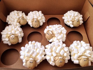 a herd of cupcakes