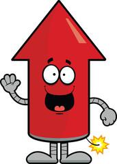 Cartoon Rocket Happy