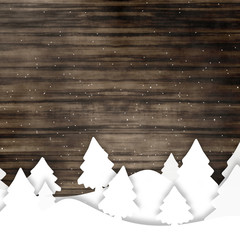 Wood Winter Christmas Graphic