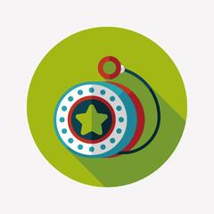 yo yo flat icon with long shadow,eps 10