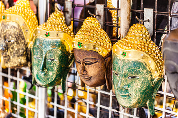 Buddha wooden masks