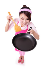 woman housewife cooking