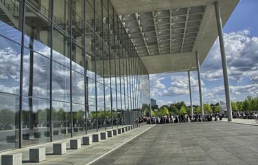 Modern architecture near Bundestag in Berlin