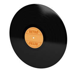 vinyl with retro sign