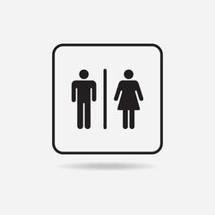 Male Female Restroom Symbol Icon
