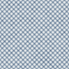 Medium Blue Gingham Pattern Repeat Background
