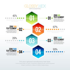 Glossy Hex Infographic