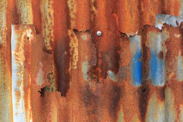 Rusty zinc sheet