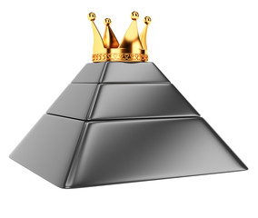 Pyramid with crown