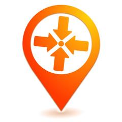 point de rassemblement sur symbole localisation orange