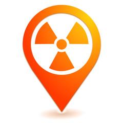 radioactivité sur symbole localisation orange