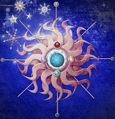 Alchemic starry sun