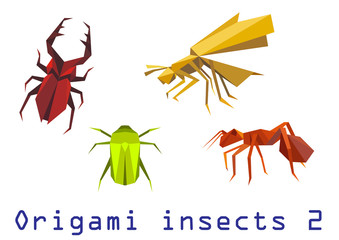 Origami insects set