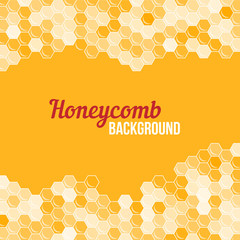 Orange honeycomb background.
