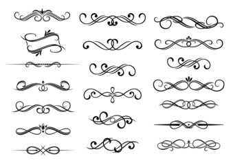 Border calligraphic elements set