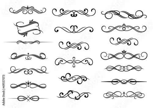 Border calligraphic elements set - 69557073