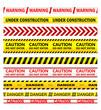 Zdjęcia na płótnie, fototapety, obrazy : Yellow warning tapes with texts