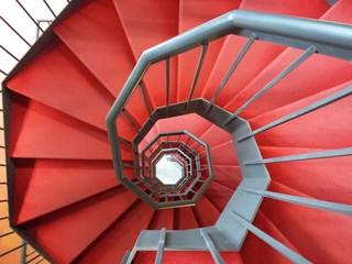 Grande spirale rossa