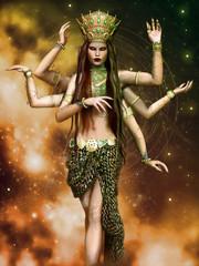 Baśniowa sześcioramienna bogini