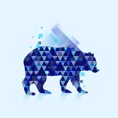 Polygonal bear logo
