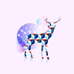 Polygonal deer logo