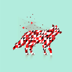 Polygonal fox logo