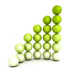 successful growth bar sphere graph diagram