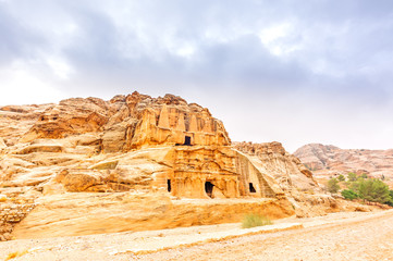 Obelisk tombs in the ancient Edomite city of Petra, Jordan