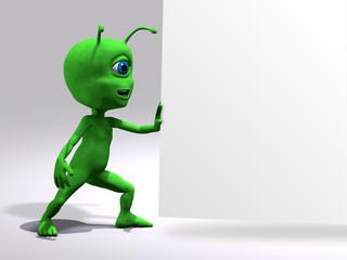 Extraterrestre - Sfondo bianco