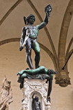 Perseus with the Head of Medusa sculpture, Florence, Tuscany poster