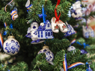 The New Year tree decorated in the Dutch style