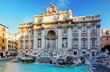 canvas print picture - Fountain di Trevi, Rome, Italy.
