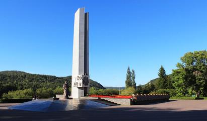 Стела в память о Великой Отечественной войне в Зеленогорске