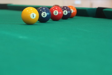 yellow snooker ball number one ball ahead achievement success