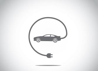 electric hybrid car charger plug concept symbol illustration art