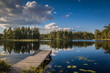 canvas print picture - Swedish Lakeview