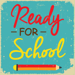 Back to school, retro poster