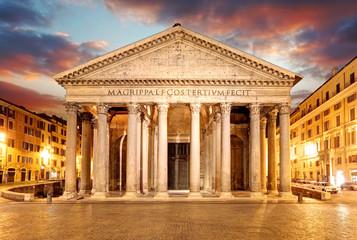 Pantheon - Rome at sunset