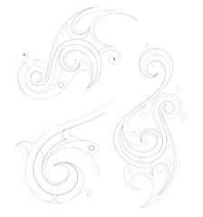Outline tattoo design