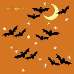 Seamless pattern of Halloween bats