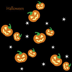 Seamless pattern of Halloween lanterns