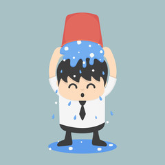 Ice bucket Challenge Business EPS.10