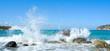 Waves of the sea. Mirabellno Bay