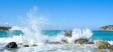 Fototapety Waves of the sea. Mirabellno Bay