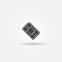 Nano SIM vector icon - card for mobile phones symbol